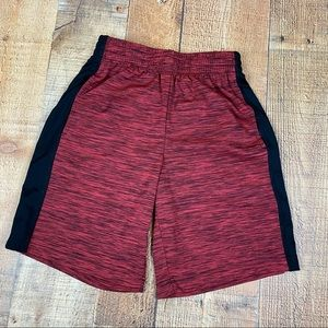 Xersion Boys Red Marked Basketball Shorts
